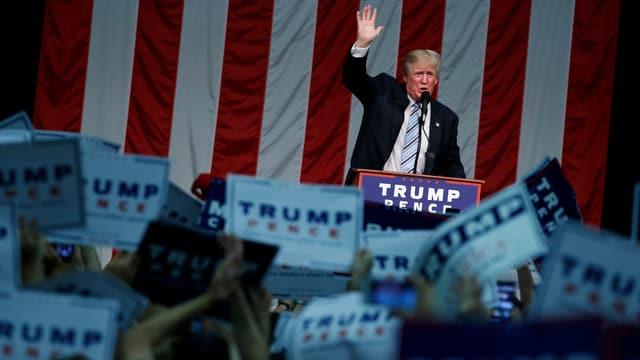 Donald Trump bei einem Wahlkampf-Auftritt.