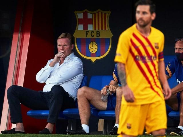 Der FC Barcelona mit Trainer Ronald Koeman und Superstar Lionel Messi.