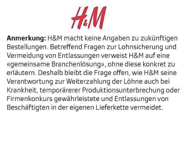 Anmerkung H&M