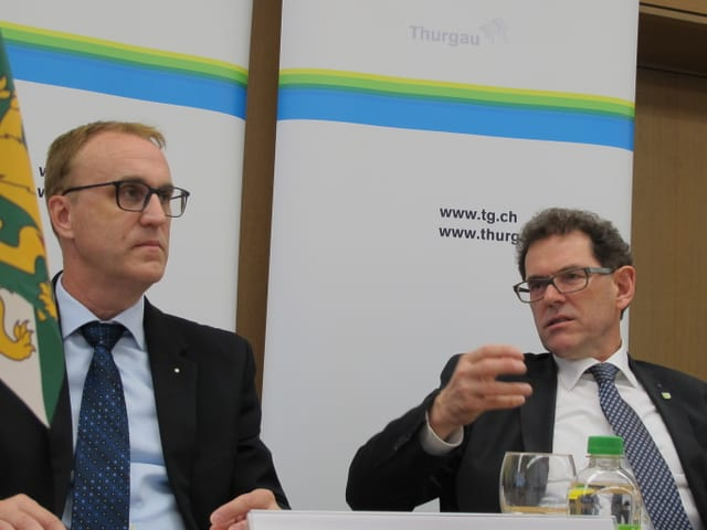 Jakob Stark und Urs Meierhans erklären das Budget 2019.