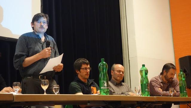 Da san.: Markus Meuli, mastral Nufenen, Renato Mengelt, Spleia, Thomas Lechner, Sufer,s, Georg Trepp, Valragn.