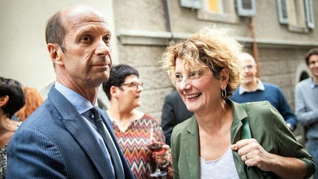 Beat Rieder e Marianne Maret.