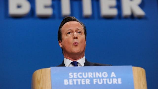 Premier Cameron auf dem Tory-Parteitag in Birmingham.