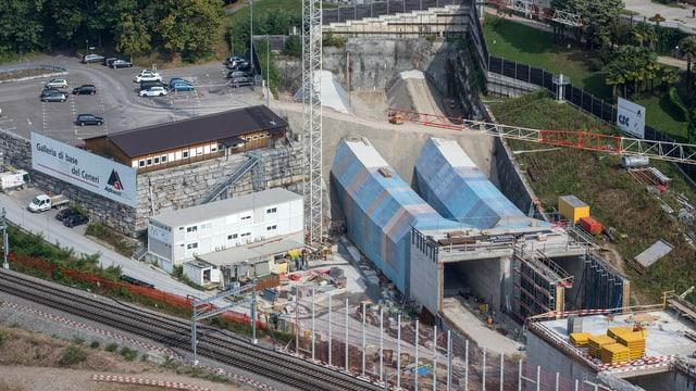 Baustelle des Ceneri-Basistunnels bei Lugano