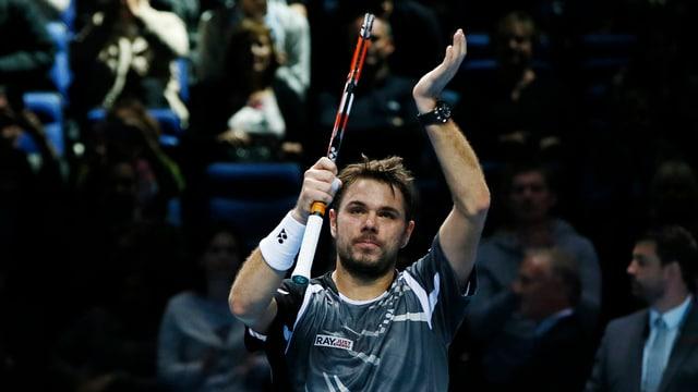 Stan Wawrinka applaudiert bei den ATP-Finals in London