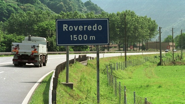 Autobahnausfahrt Roveredo