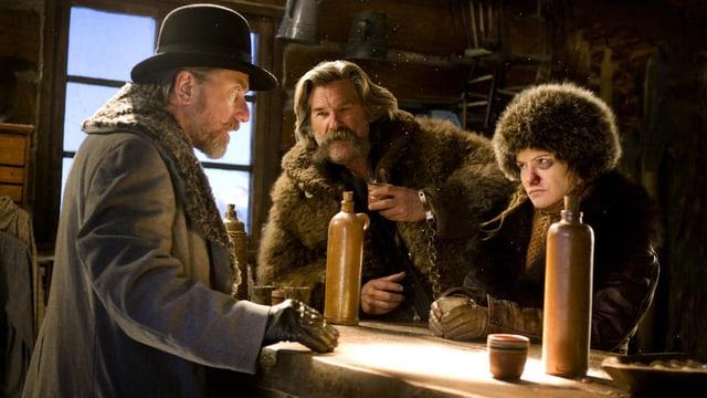 Tim Roth, Kurt Russell und Jennifer Jason Leigh in «The Hateful Eight».