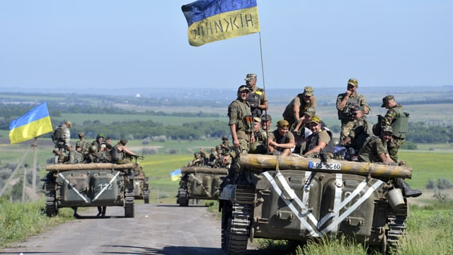 Ukrainische Schützenpanzer