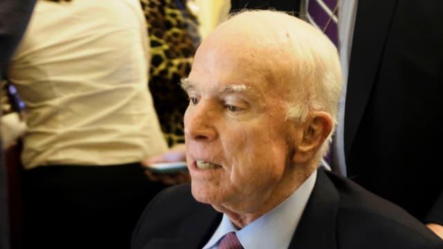 Gezeichnet von der Krankheit: John McCain im Dezember 2017.