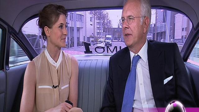 Annina Frey und Harald Schmidt in der g&g-Rubrik «In der Limo mit...»