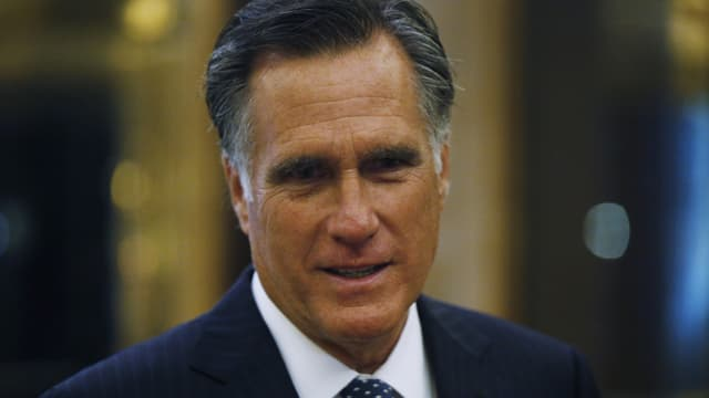 Mitt Romney in Nahaufnahme.