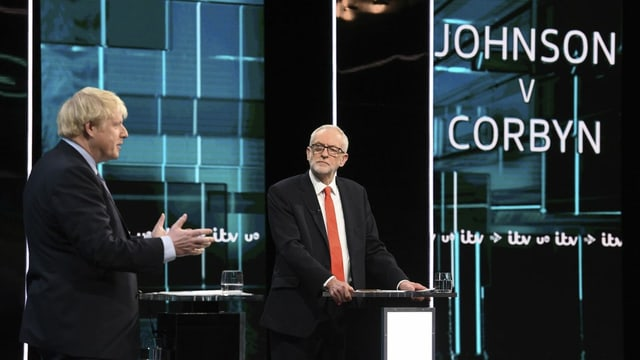 Johnson und Corbyn.