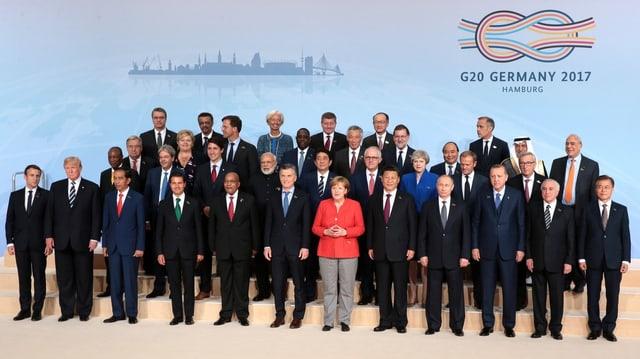 Gruppenfoto der G20-Teilnehmer