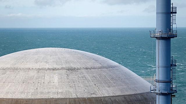 Atomreaktor von oben.