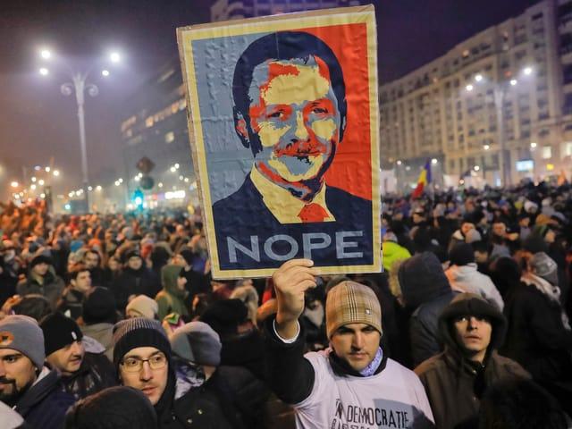 Proteste in Bukarest am 1. Februar 2017