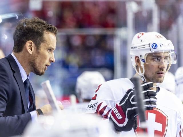 Coach Patrick Fischer und Schlüsselspieler Nino Niederreiter.