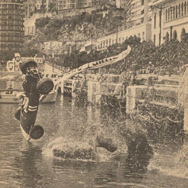 Paul Hawkins' Rennen 1965 endete im Hafenbecken.
