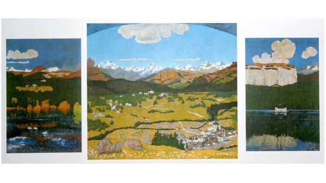 Il maletg «Panorama da Flem» da Giovanni Giacometti.