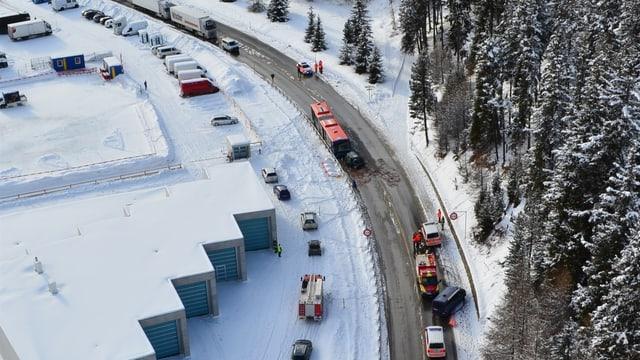 Unfallstelle in St. Moritz