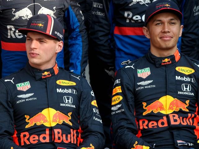 Max Verstappen und Alexander Albon.