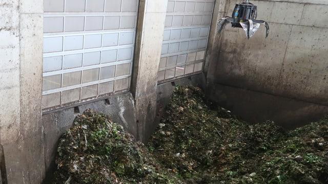 Grüngut-Anliferung in der Biogas AG in Zürich-Altstetten