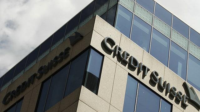 Credit-Suisse-Logo an Gebäude