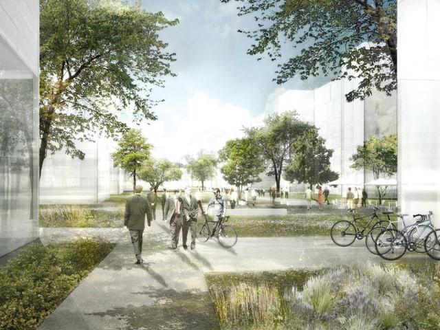 Visualisierung des Projekts Innvoationspark.