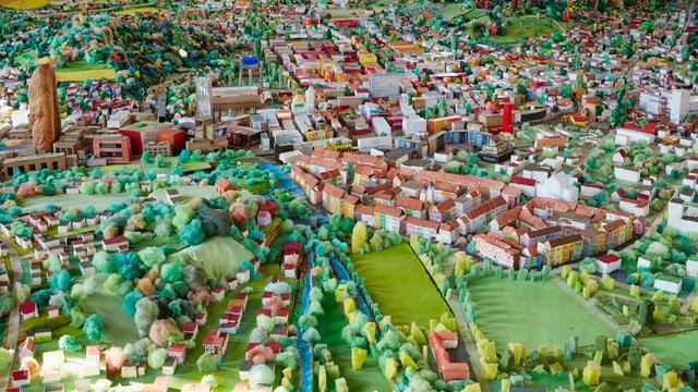 Ausschnitt aus buntem Stadtmodell