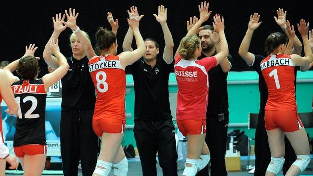 Schweizer Volleyballerinnen.