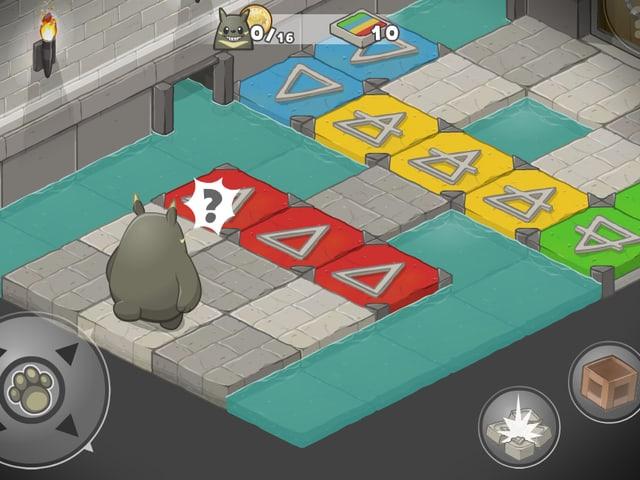 Bildausschnitt aus dem Handyspiel Grooh.