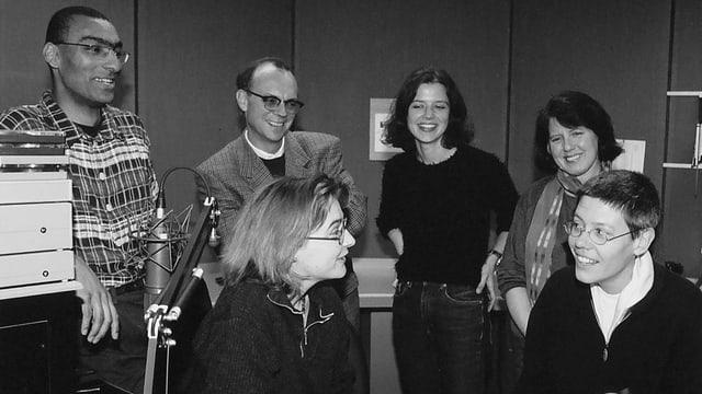 Radioschaffende im Studio