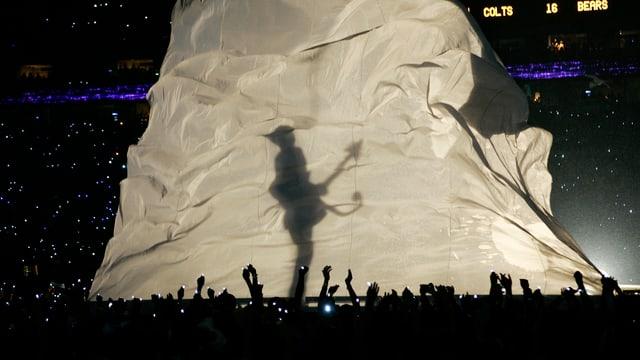 Prince während des Super Bowl 2007