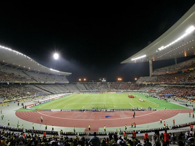 Das gefüllte Fussballstadion in Istanbul.