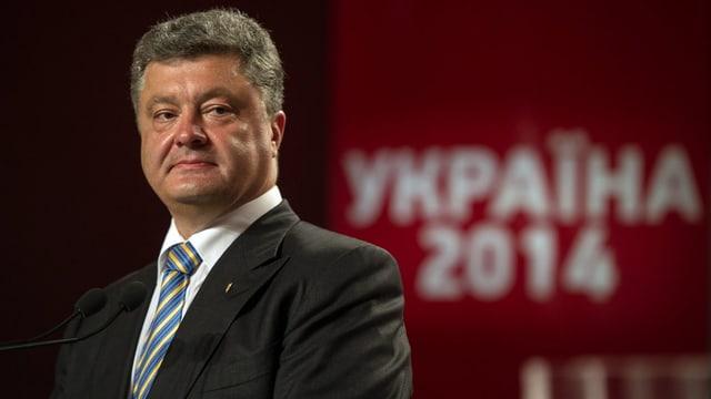Eine Porträtaufnahme vom neuen Präsident der Ukraine, Petro Poroschenko.