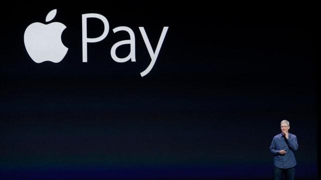 Apple-Chef Tim Cook bei der Vorstellung von Apple Pay.