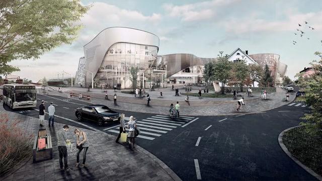Das geplante Einkaufscenter «Dreiländergalerie»