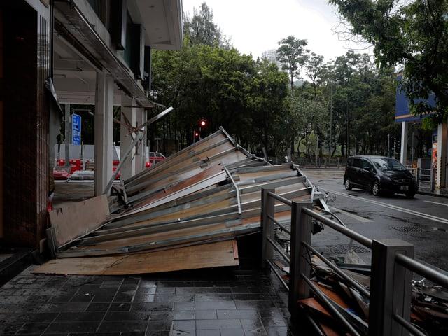 Zerstörung nach dem Taifun