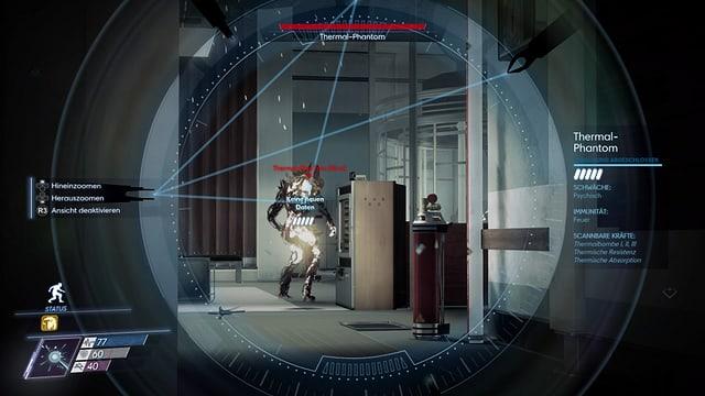 Durch unser Psychoskop können wir die Aliens beobachten.