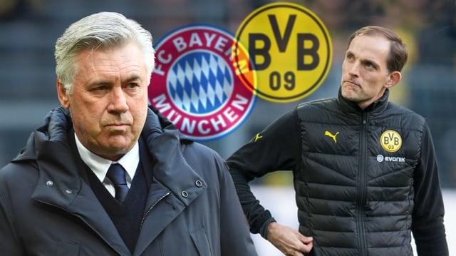 Die Trainer Carlo Ancelotti und Thomas Tuchel