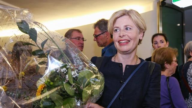Folgt unmittelbar auf die männliche SVP-Spitze: Esther Friedli.