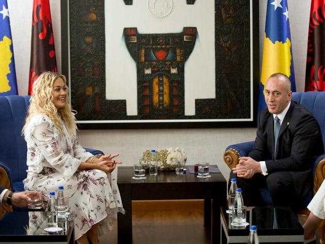 Ora und Haradinaj.