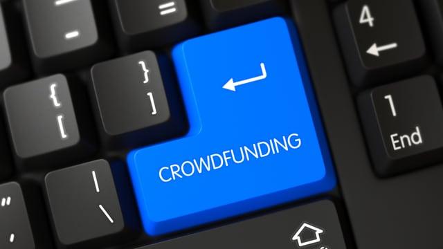 "Computertastatur ""Crowdfunding""-Taste"