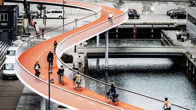 Velo-Autobahn-Brücke in Kopenhagen