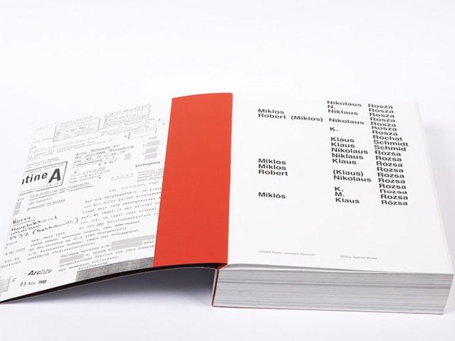 Die Zürcher Künstler Christof Nüssli und Christoph Oeschger haben 3200 Seiten Akten über Rózsa gesichtet und ausgewählt.
