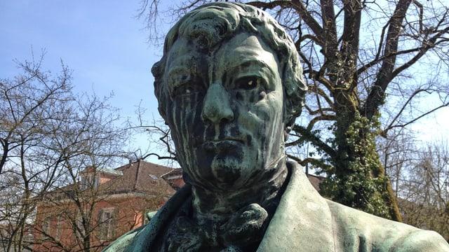 Portrait von Heinrich Zschokke (Statue im Stadtpark)