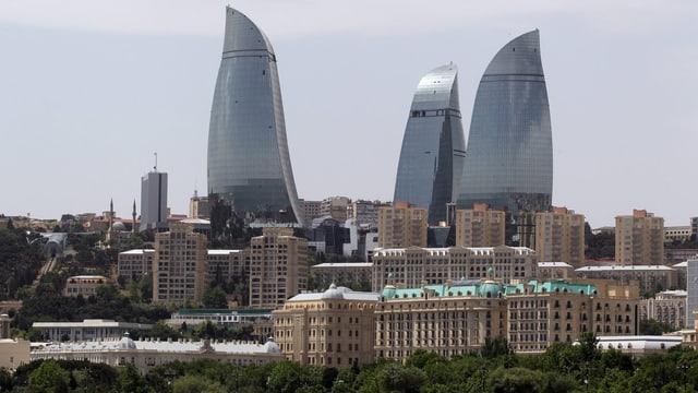 Die «Flame Towers» - das Wahrzeichen von Baku.