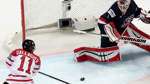 Il Canadais Brendan Gallagher fa in gol en il mezfinal cunter ils Stadis Unids.