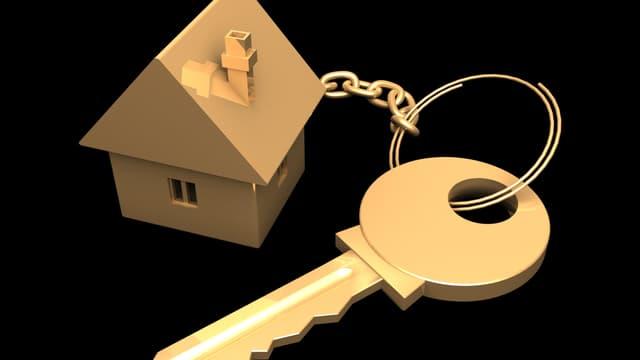 Schlüssel mit Haus-Modell
