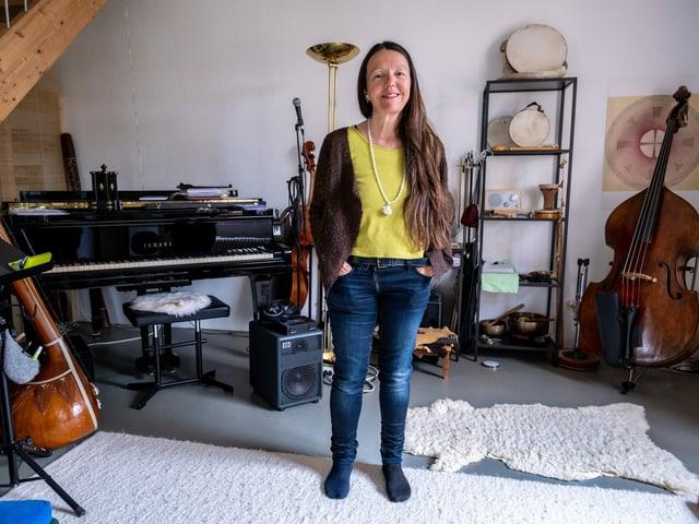 Adelina Filli en ses atelier a Rorschach.