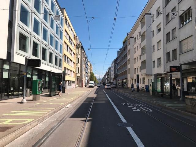 Panoramaansicht der Güterstrasse